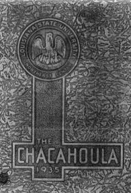 photocopy of front of 1935 Chacahoula yearbook