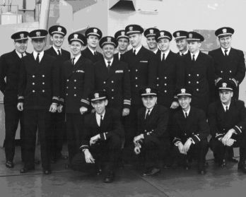 photograph of DER-386 Officers - 1955