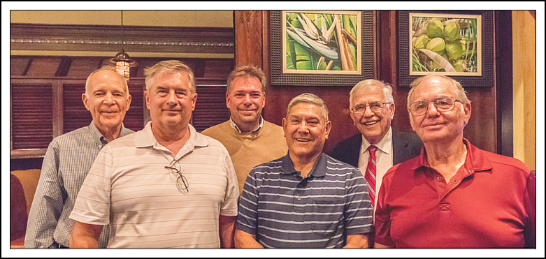 photograph of Ed Stone. Dan Dykstra, Mike Burkhart, Ernie Velez, Ray Ewing, and Tom Hendricks