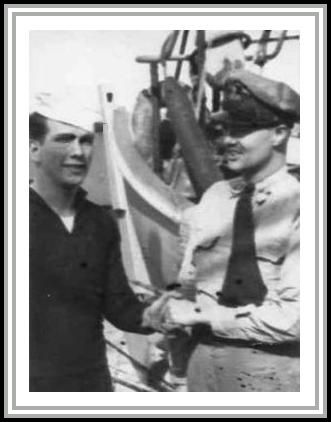 photograph of Tom with unknown officer
