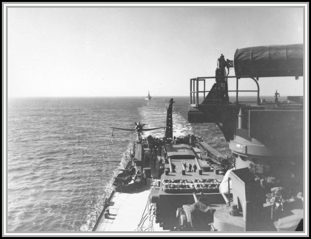 photograph taken aboard the USS Savage