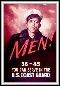 scan of poster MEN! 38-45 You can serve in the U. S. Coast Guard