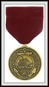 scan of USN Good Conduct medal