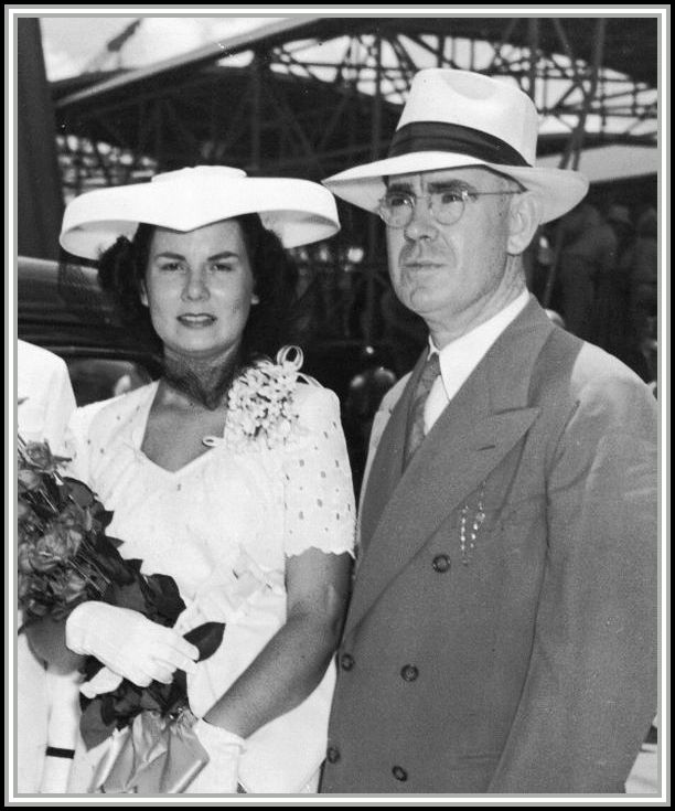 photograph of Mrs. Mary Hart and her father Walter S. Savage, Sr.