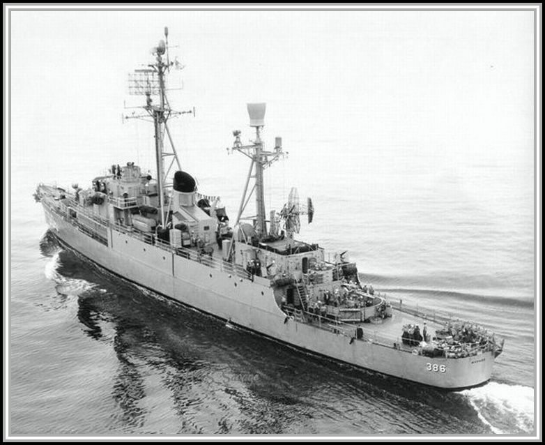photograph of the USS Savage