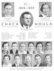 photocopy image of a page from The Chachahoula Yearbook