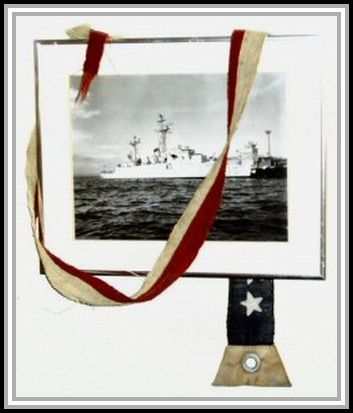 photograph of commissioning pennant