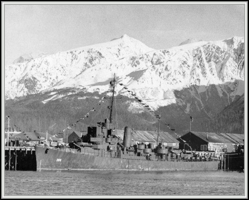 photograph taken 27 October, 1945 - Seward, Alaska.  Navy Day.