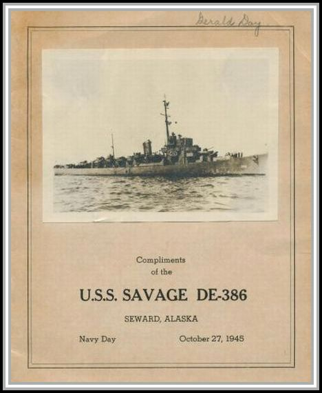 scan of program from Navy Day 1945