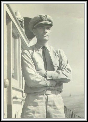 photograph of Lieutenant Commander O. C. Rohnke aboard the SAVAGE in 1944