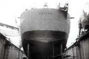 USS Savage in Philippine dry dock