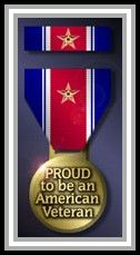 "graphic medal ""Proud to be an American Veteran"""
