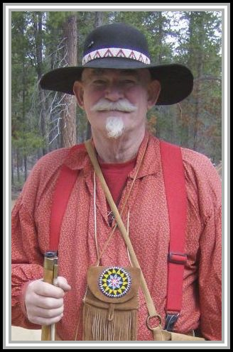 photograph of Roger N. Makin, 25 May, 2008 at a Black Powder Rendezvous