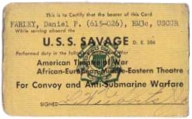 scan of Dan Farley's Savage campaign card