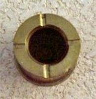 "photograph of 3"" 50mm gun shell casing ashtray (top)"
