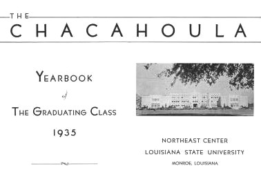photocopy of Northeast Center of Louisiana State University, 1935