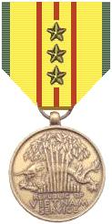 graphic of Vietnam Service Medal with 3 bronze stars
