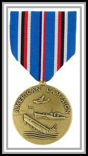 scan of American Campaign medal