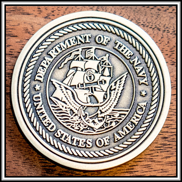 photograph of 2015 challenge coin (back)