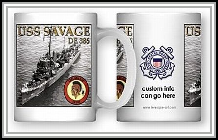 USS Savage coffee mug (Coast Guard)