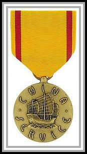 scan of Navy China Service medal