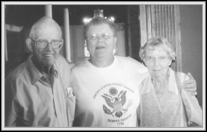 photograph of Rollins Coakley, Diane C. Day and June Coakley after visiting the WWII Memorial