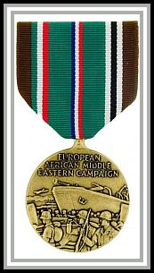 image of European African Middle Eastern Area Campaign medal (with one battle star)