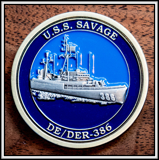 photograph of 2015 challenge coin (front)