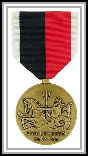 scan of Navy Occupation Service medal