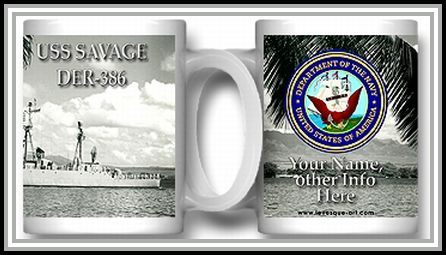 USS Savage coffee mug (Navy)