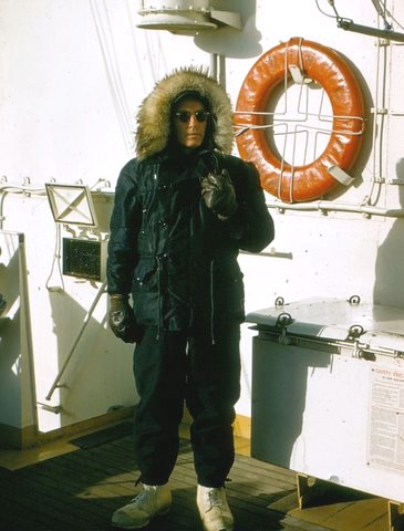 photograph of Captain Rohnke aboard the EASTWIND
