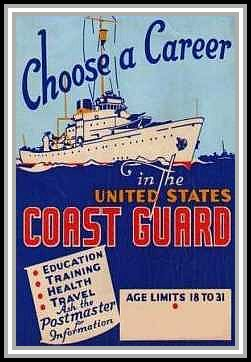 scan of poster Choose a Career in the United States Coast Guard