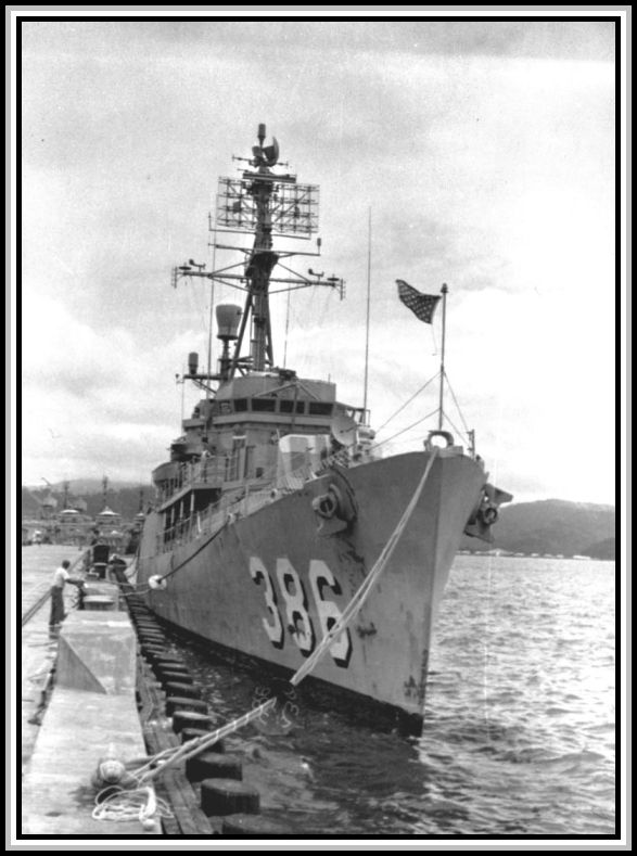 photograph of DER-386 in 1966. Unknown port.